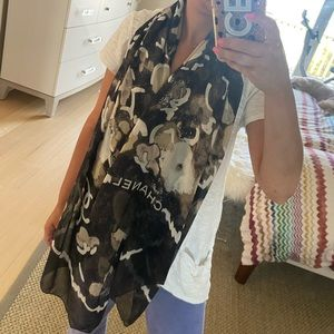 CHANEL Rare Abstract logo Scarf - Like New